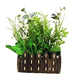 Parishi & W Artificial Mix flower plant glowing arrangement in wooden Pot