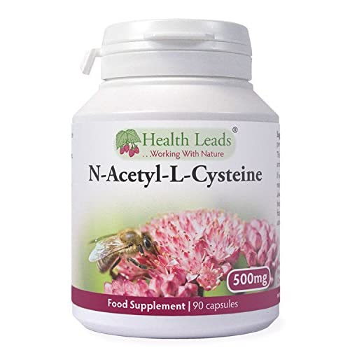 51MKCwhQZxL. SS500  - N-Acetyl-L-Cysteine (NAC) 500mg x 90 Capsules - Magnesium Stearate Free