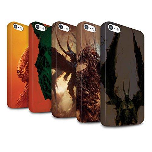 Offiziell Chris Cold Hülle / Matte Snap-On Case für Apple iPhone 5/5S / Herzensucher Muster / Wilden Kreaturen Kollektion Pack 6pcs
