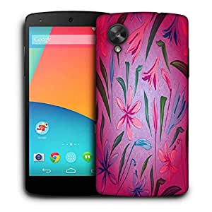 Snoogg Colorful Petals Printed Protective Phone Back Case Cover For LG Google Nexus 5