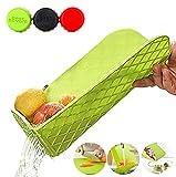Tabla de cortar plegable multifuncional con tamiz integrado, bandeja antibacteriana de plástico, tabla de cortar + escurridor plegable para frutas y verduras, apto para lavavajillas