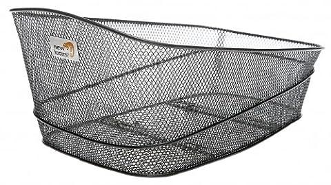 New Looxs Stresa Fahrradkorb hinten engmaschig schwarz Korb, sehr stabil, mit Edelstahl-Halterungen (Fahrradkorb Für Schulranzen)