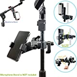 AccessoryBasics Music Boom Mic Microphone Stand Smartphone Mount W/360 Swivel Adjust Holder For IPhone X 8 7 Plus 6s Samsung Galaxy S8 S7 Note Google Pixel XL LG V30 Phones