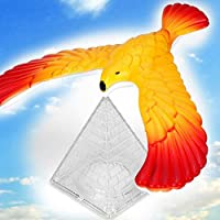 Gemini_mall® Magic Balancing Bird Science Desk Toy Balancing Eagle Novelty Fun Children Learning Gift Kid Educational Toy with Pyramid Stand,Random Color