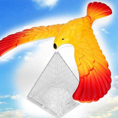 Gemini Mall® équilibrage de Magic Bird Science Desk Toy Balancing Eagle fantaisie Fun Enfants l'apprentissage Cadeau Kid jouet éducatif avec support de pyramide, couleur aléatoire