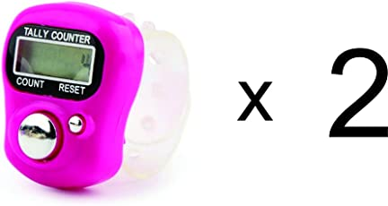 Mini LCD Electronic Digital Display Finger Hand Tally Counter ( Finger watch type model) New Model Pack of 2