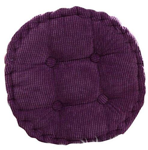 Baumwoll-wohnzimmer-stuhl (tfxwerws Weich Rund Lila Wohnzimmer Büro Baumwolle Stuhl Pads Kissen Corduroy,)