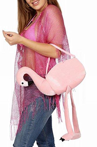 Wilbers Kostüm Zubehör Tasche Handtasche Flamingo Karneval Fasching (Handtasche Kostüm Zubehör)