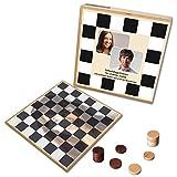 Personalisiertes Foto-Damespiel - bedruckt mit ihren Bildern (Deluxe: Holzausführung)
