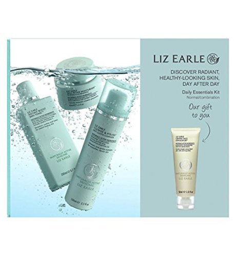 Liz Earle Daily Essentials Kit for Normal/Combination Skin with bonus Gentle Face Exfoliator 50ml by Liz Earle