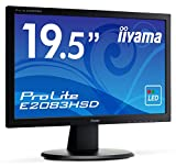 Iiyama E2083HSD-B1 50,8 cm (20 Zoll) LED-Monitor (VGA, DVI, 5ms Reaktionszeit) schwarz