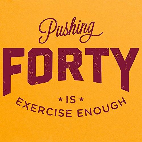Pushing Forty T-Shirt, Damen Gelb