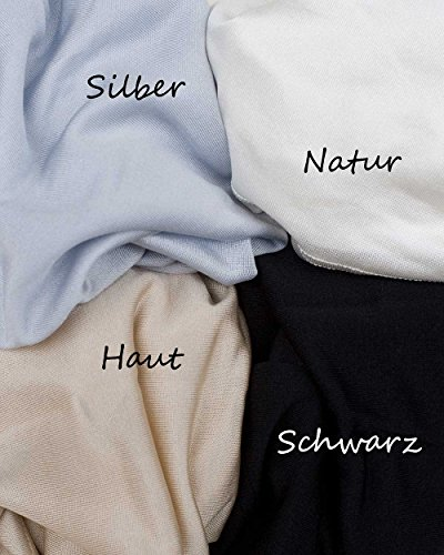 Damen Träger Top, 100% Seide, Foster-Natur, 4 Farben Black
