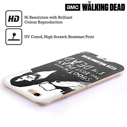Ufficiale AMC The Walking Dead Rick Questions Citazioni Cover Morbida In Gel Per Apple iPhone 5 / 5s / SE Daryl Shoot