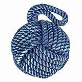 Homescapes - Cale Porte Corde en Forme de nœud Marin – Bleu