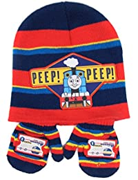 Thomas the Tank Engine Stripey Hat and Mitten set 'Peep Peep' 6-23 months