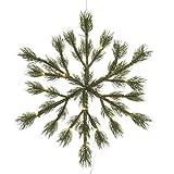 Schöne Schneeflocke aus Tannengrün mit LED-Beleuchtung von Kaemingk | Maße: 39x3 cm | grün