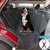 2ME Autoschondecke Hund Sitzbezüge Pet Travel Rundumschutz Wasserdicht Undurchlässig Einfache Reinigung, Auto Hundedecke hund autositz, Bonus - ein roter langlebiger Hundesitzgurt