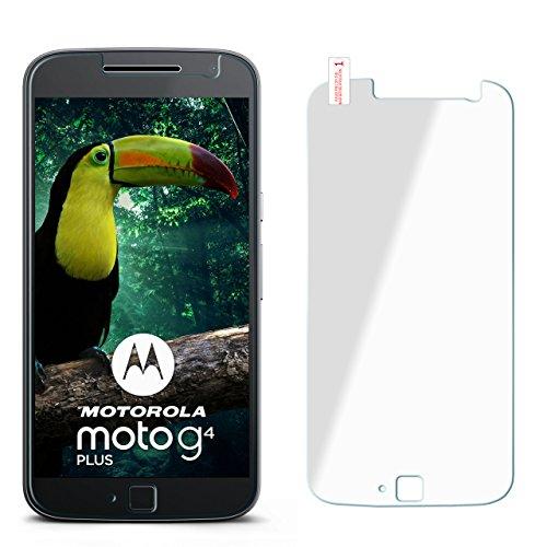 OneFlow 9H Panzerfolie für Lenovo Moto G4 Panzerglas Display Glasfolie [Tempered Glass] Screen protector Glas Displayschutz-Folie für Motorola Moto G4/G4 Plus Schutzfolie