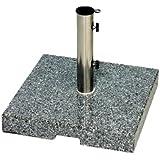 Siena Garden 755574 Granit pour Mâts de Parasol Gris Granit 25 x 48 mm