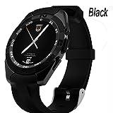 Black Reloj De Teléfono Inteligente For Girls , Shengyaohul Digital Pedometer Watch Mostrar Reloj / Bluetooth Reproductor De Música / Movimiento Paso A Paso Reloj Inteligente Bluetooth