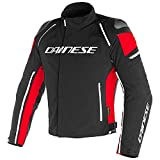 Dainese Racing 3 D-Dry - Chaqueta para Moto, 1654605, Black Black Red, 52