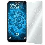 PhoneNatic 1 x Glas-Folie klar kompatibel mit Nokia 6.1 Plus (X6) - Panzerglas für Nokia 6.1 Plus (X6)
