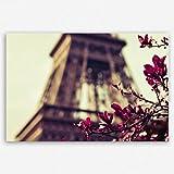 ge Bildet hochwertiges Leinwandbild XXL - Eiffelturm in Paris - Frankreich - 120 x 80 cm einteilig | Wanddeko Wandbild Wandbilder Wohnzimmer deko Bild |