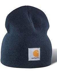 e84d05399bf Carhartt Acrylic Knit Beanie - Navy A205NVY Mens Winter Beanie Ski Hat  CHA205NVY