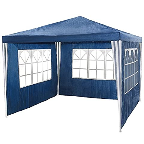 Tuff Concepts Garden Gazebo with Sides Waterproof Outdoor PE Marquee