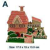 GSYDPT 3D Puzzle Spielzeug DIY Modell Holzhaus Holzbau Puzzles Holz Kinder Spielzeug Lernen Dekoration Geschenk