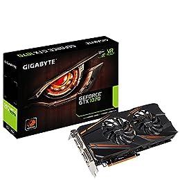 Gigabyte GeForce GTX 1070 WINDFORCE OC - Grafikkarten - GF GTX 1070 - 8 GB GDDR5 - PCIe 3.0 x16 - DVI, HDMI, 3 x DisplayPort