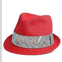 YQXR Moda Sombreros Sombrero Mujeres Verano Protector Solar Sombrero de Paja  Ocio Moda Jazz Gorra ( ee1945b81729