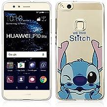 """VComp-Shop® Custodia trasparente in silicone TPU per smartphone, con motivo del cartone Disney """"Buon Natale!"""" per Huawei P10 Lite 5.2"""""""