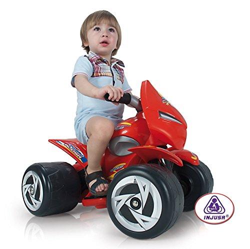 elektrisches kinderfahrzeug Kinderquad-Batterie 6V in Rot für Kinder von 1 bis 3 Jahren Alien