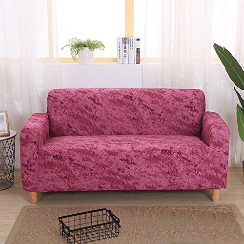 Hm&dx elastico copertura divano slipcover 1-pezzo poliestere all-inclusive antimacchia mobili coperture per salotto cuscino 1 2 3 4 copridivano-rosa divano