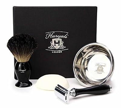 DOUBLE EDGE SAFETY RAZOR SHAVING SET Badger Hair Shaving Brush 4 MEN GIFT SET double edge razor kit ( NO BLADES INCLUDED )