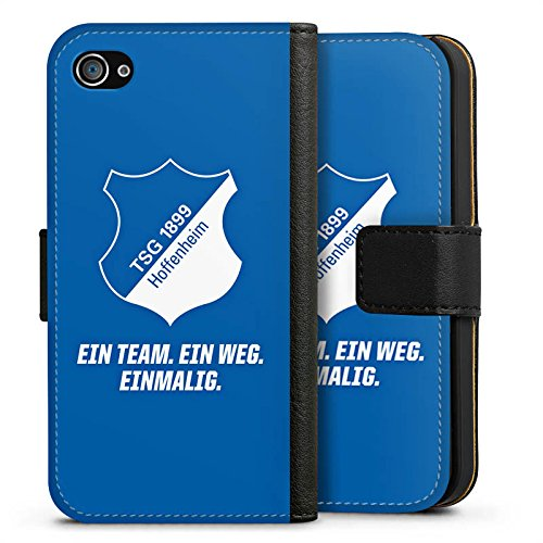 Apple iPhone X Silikon Hülle Case Schutzhülle TSG 1899 Hoffenheim Fanartikel Fussball Sideflip Tasche schwarz