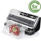 Foodsaver FFS006X-01 Envasadora al vacío, 125 W, Acero Inoxidable, Gris y negro