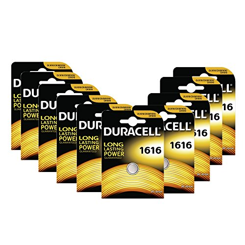 Duracell DL1616 Batterie Button cell/Coin cell, Lithium CR1616 Knopfzelle 10er-Pack (Duracell 3v Lithium Cell Battery)