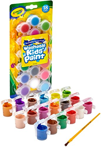 Crayola Washable Kids Paint, Pack of 18 - Multicolour
