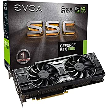 EVGA GeForce GTX 1060 6GB SSC GAMING ACX 3.0, 6GB GDDR5, LED, DX12 OSD Supporto (PXOC) Scheda Grafica 06G-P4-6267-KR