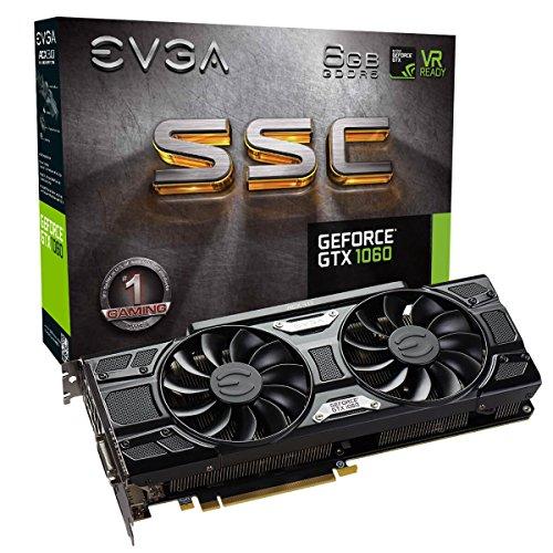 EVGA GeForce GTX 1060 6 GB SSC GAMING ACX 3.0, 6 GB GDDR5, LED, DX12 Soporte OSD (PXOC) Tarjeta gráfica 06G-P4-6267-KR