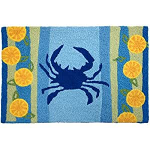 Jellybean Lemons & Blue Crab Accent Area Rug
