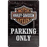 Nostalgic art harley davidson parking only-panneau en métal de 20 x 30 cm