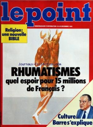 POINT (LE) [No 692] du 23/12/1984 - RELIGION - UNE...