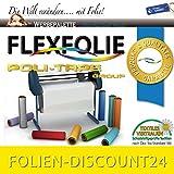 (EUR 14,86 / Quadratmeter)FLEXFOLIE BÜGELFOLIE 1 METER x 500mm POLI-FLEX PREMIUM 418 MEDIUM YELLOW