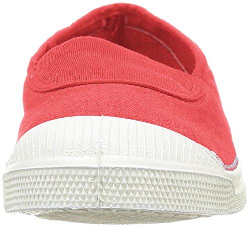Bensimon Tennis Elastique, Baskets Basses Femme Rouge (Rouge 310)