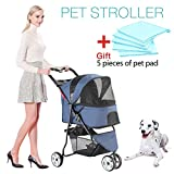 Best Pet 3 Wheel Strollers - Three-wheeled Pet Stroller,Small Medium and large Cat Dog Review