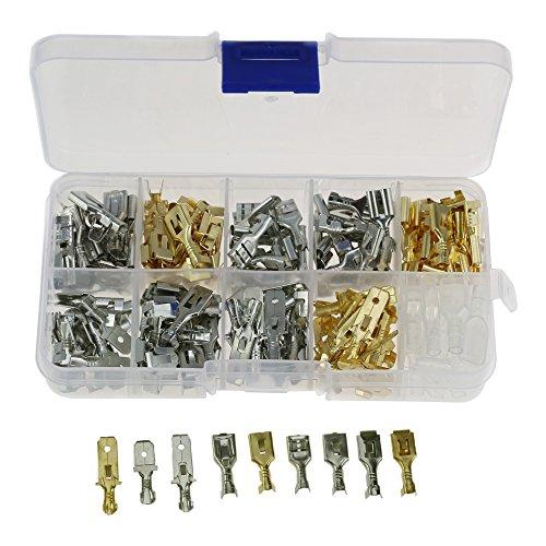 Trainingsunterlagen für 6,3mm männlich/weiblich Spaten Crimp Terminals Klinge Stecker Terminals isolierend Sleeve